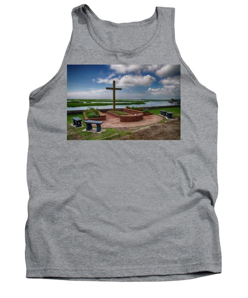 New Garden Cross At Belin Umc Tank Top by Bill Barber