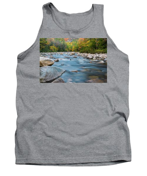 New Hampshire Swift River And Fall Foliage In Autumn Tank Top