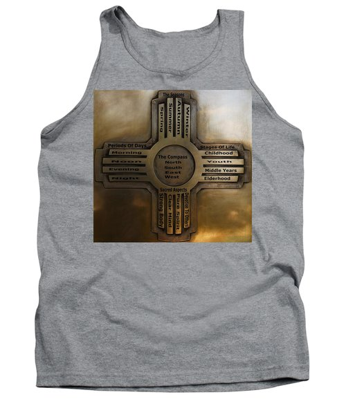 Tank Top featuring the photograph New Mexico State Symbol The Zia by Joseph Frank Baraba