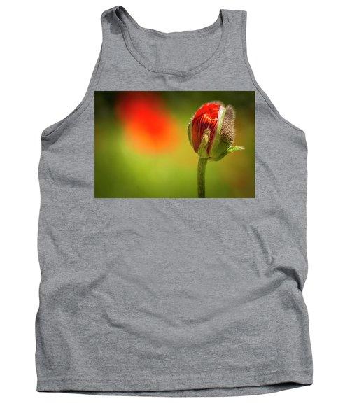 New Orange Poppy Bloom Tank Top