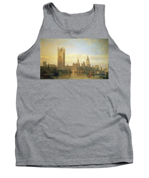New Palace Of Westminster From The River Thames Tank Top