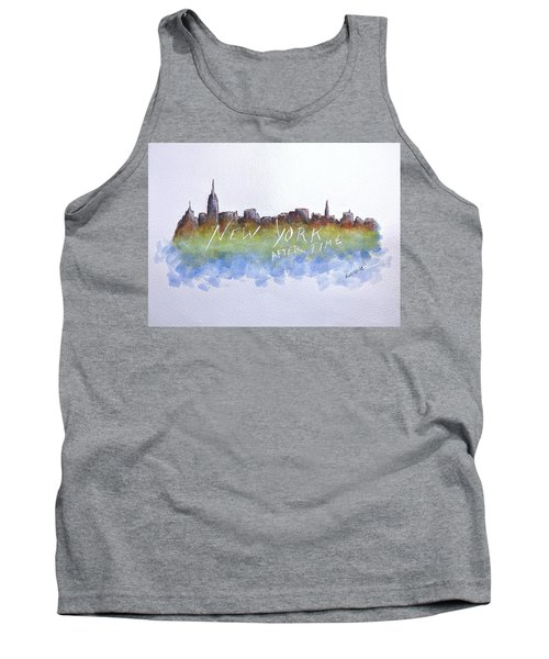 New York After Time Tank Top by Edwin Alverio