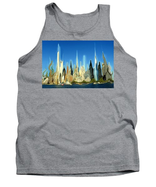 New York City Skyline 2100 - Modern Artwork Tank Top