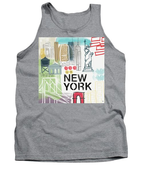 New York Cityscape- Art By Linda Woods Tank Top