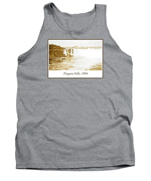 Tank Top featuring the photograph Niagara Falls Ferry Boat 1904 Vintage Photograph by A Gurmankin