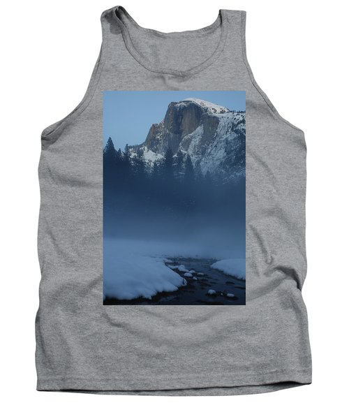 Tank Top featuring the photograph Night Falls Upon Half Dome At Yosemite National Park by Jetson Nguyen