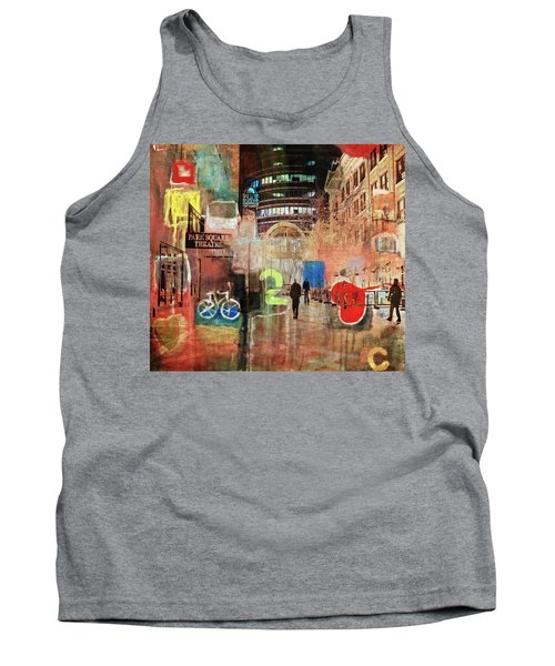 Tank Top featuring the photograph Night In The City by Susan Stone