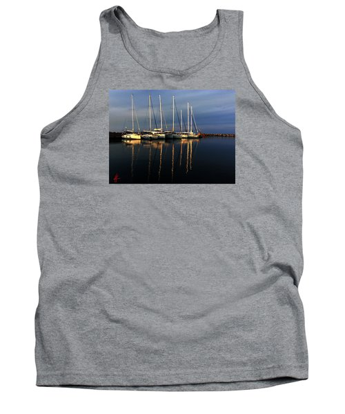 Night On Paros Island Greece Tank Top by Colette V Hera  Guggenheim