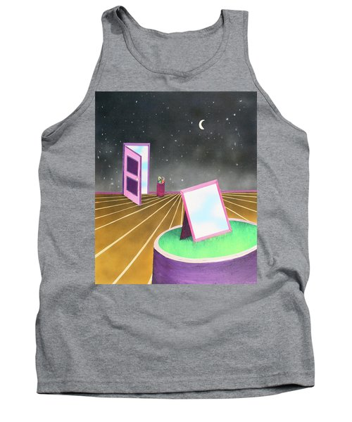 Tank Top featuring the painting Night by Thomas Blood