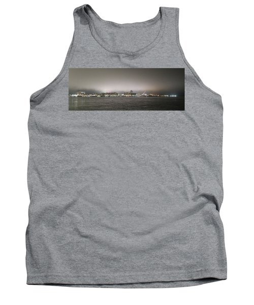 Night View Ocean City Downtown Skyline Tank Top