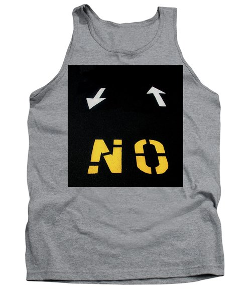 Tank Top featuring the photograph No Sense Of Direction Traffic Lines by Gary Slawsky