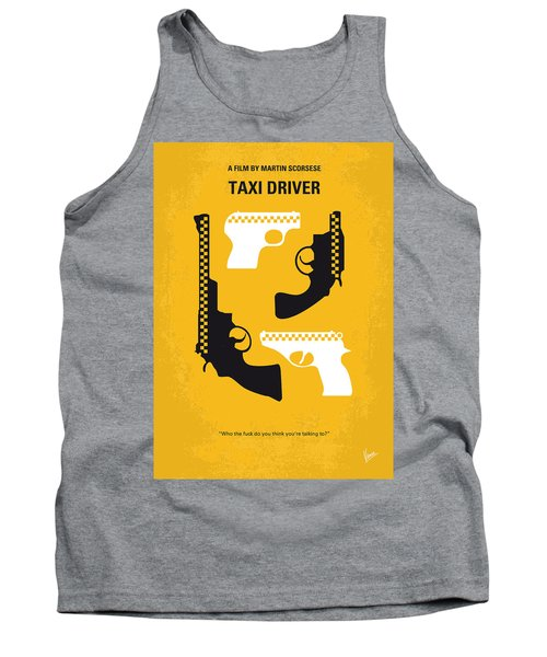 No087 My Taxi Driver Minimal Movie Poster Tank Top
