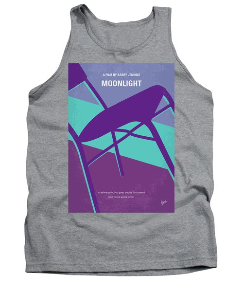 Tank Top featuring the digital art No757 My Moonlight Minimal Movie Poster by Chungkong Art