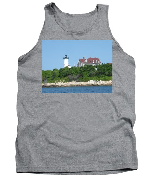 Nobska Point Lighthouse Tank Top by Donna Walsh