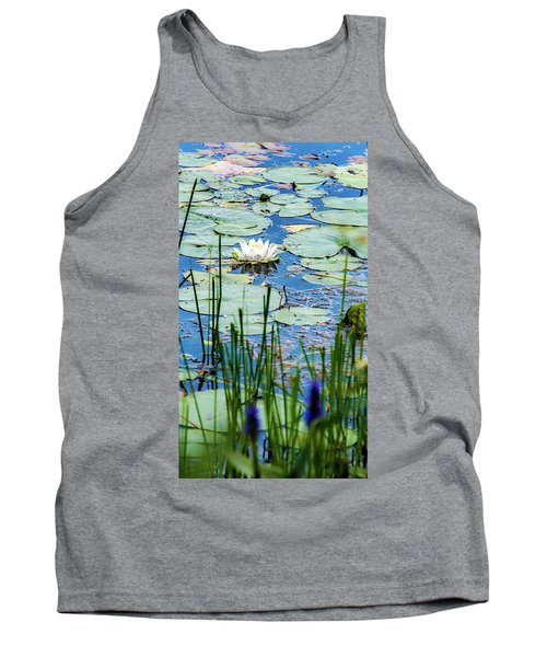 North American White Water Lily Tank Top