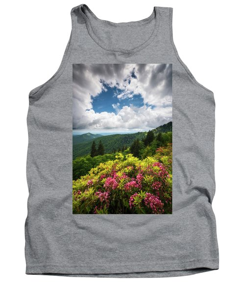 North Carolina Appalachian Mountains Spring Flowers Scenic Landscape Tank Top