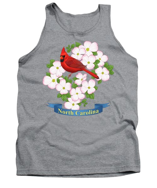 North Carolina State Bird And Flower Tank Top