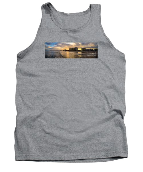 North Myrtle Beach Sunset Tank Top by David Smith