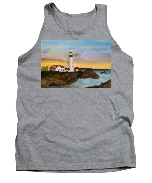 North Truro Light House Cape Cod Tank Top by Donna Walsh