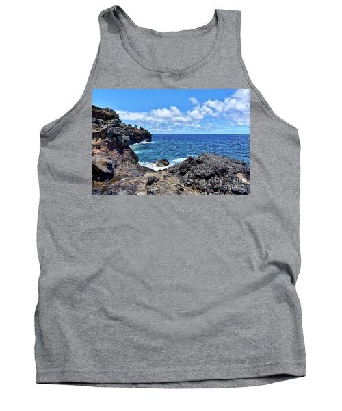 Northern Maui Rocky Coastline Tank Top