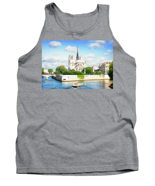 Notre Dame Cathedral, Paris France Tank Top by Anastasy Yarmolovich