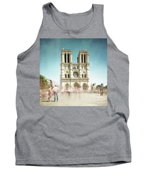 Tank Top featuring the photograph Notre Dame by Hannes Cmarits