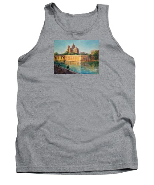 Notre Dame In Sunshine Tank Top by Jill Musser