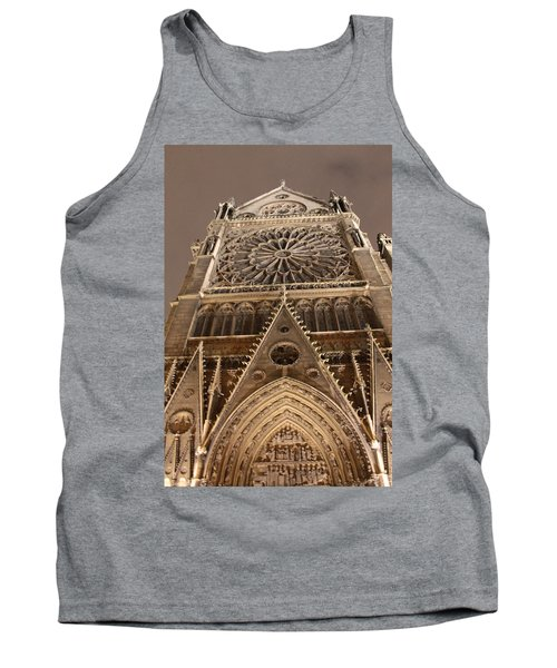Tank Top featuring the photograph Notre Dame North by Christopher Kirby