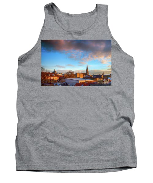 Novi Sad Roofs Lit By The Setting Sun Tank Top