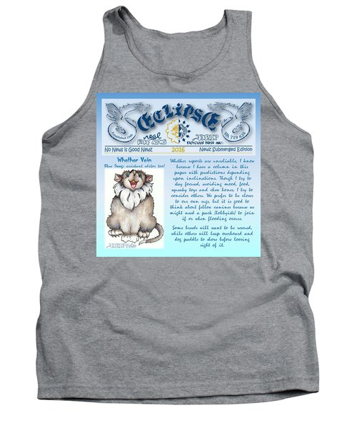 Real Fake News Blue Dawg Excerpt Tank Top