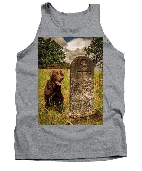 Tank Top featuring the photograph Nute In The Cemetery by Jean Noren