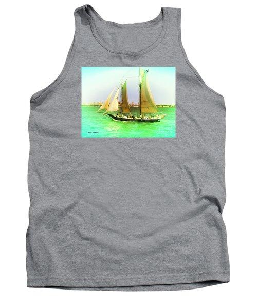 Tank Top featuring the painting Nyc Sailing by Denise Tomasura