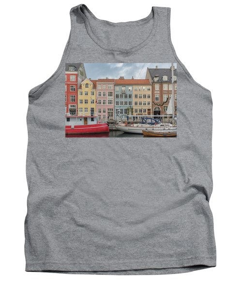 Tank Top featuring the photograph Nyhavn Waterfront In Copenhagen by Antony McAulay