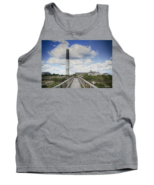 Tank Top featuring the photograph Oak Island Lighthouse by Phil Mancuso