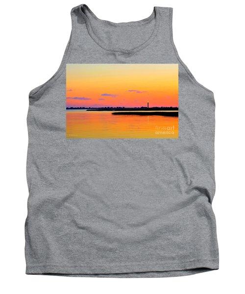 Oak Island Lighthouse Sunset Tank Top