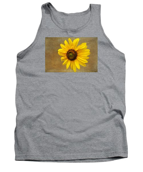 Tank Top featuring the photograph Oak Street Sunflower by Tom Singleton