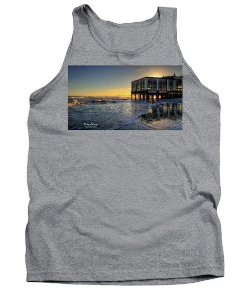 Oc Music Pier Sunset Tank Top by John Loreaux