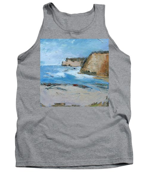 Tank Top featuring the painting Ocean Cliffs by Gary Coleman