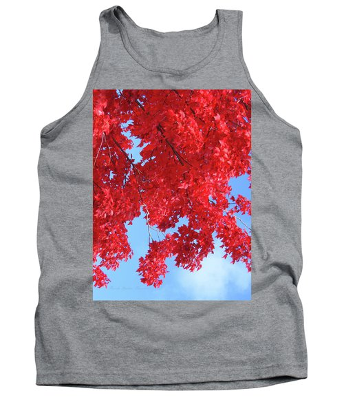 October In The Valley - Fire In The Sky Tank Top