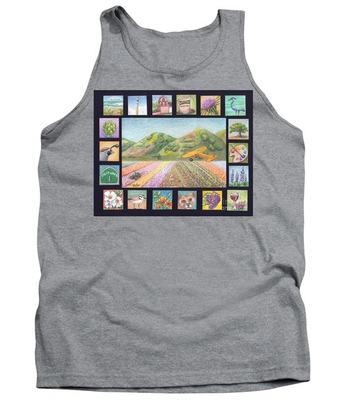 Tank Top featuring the drawing Ode To Lompoc by Terry Taylor