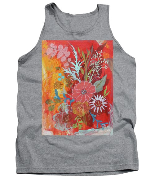 Tank Top featuring the painting Ode To Spring by Robin Maria Pedrero