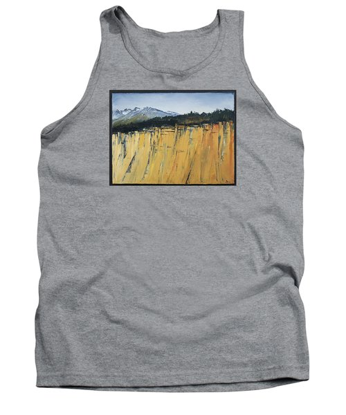 Of Bluff And Mountain Tank Top by Carolyn Doe