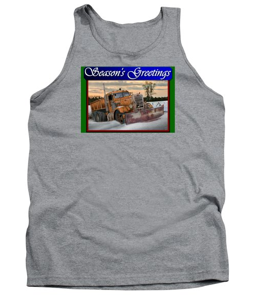 Ol' Pete Snowplow Christmas Card Tank Top