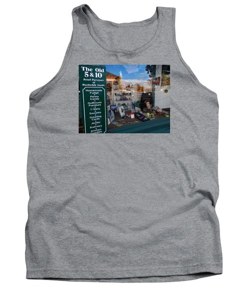 Tank Top featuring the photograph Old 5 And 10 North Conway by Nancy De Flon