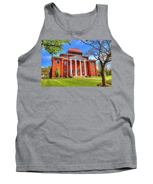 Old Ashe Courthouse Tank Top by Dale R Carlson