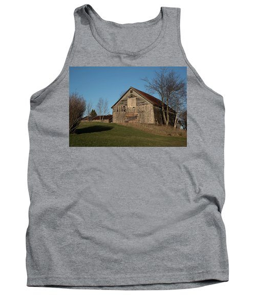 Old Barn On A Hill Tank Top