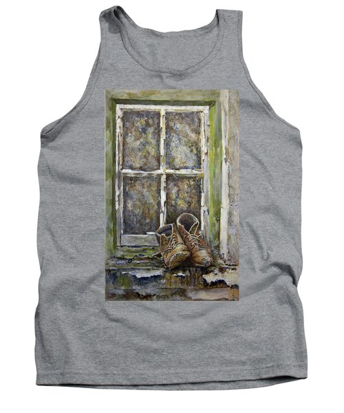 Old Boots Tank Top by Marty Garland