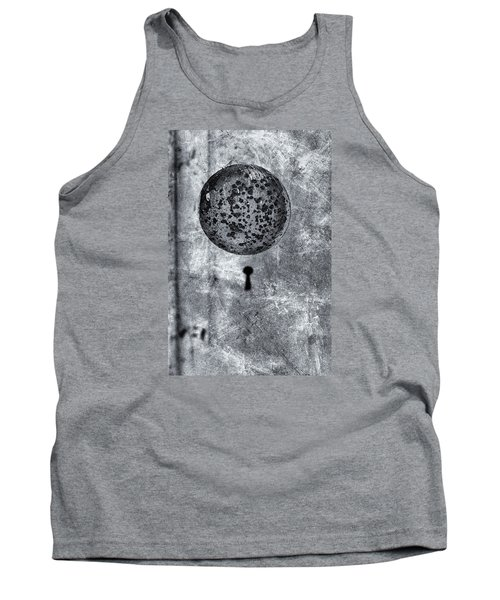 Tank Top featuring the photograph Old Doorknob by Tom Singleton