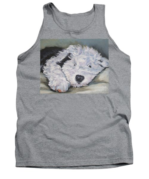 Old English Sheepdog Pup Tank Top