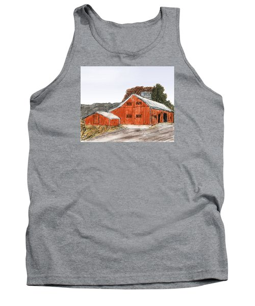 Old Farm In The Country Tank Top by R Kyllo